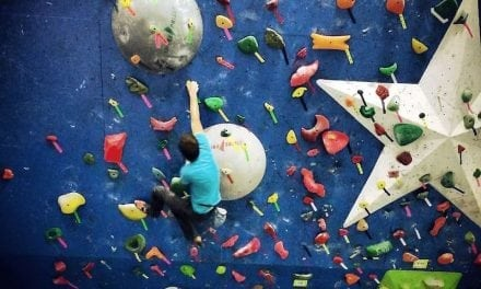 Are you up for a challenge? Go rock climbing today