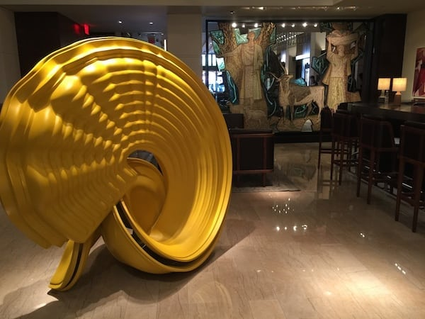 Art sculpture at The Joule Hotel in Dallas, Texas
