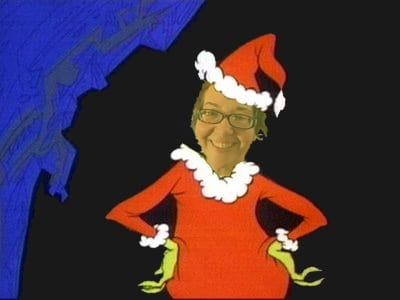 Andi Reis as the Grinch Stole Christmas
