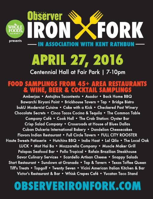 Dallas Observer Iron Fork Chef Competition 2016