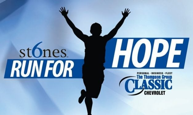 6 Stones Run for Hope In Bedford This Weekend