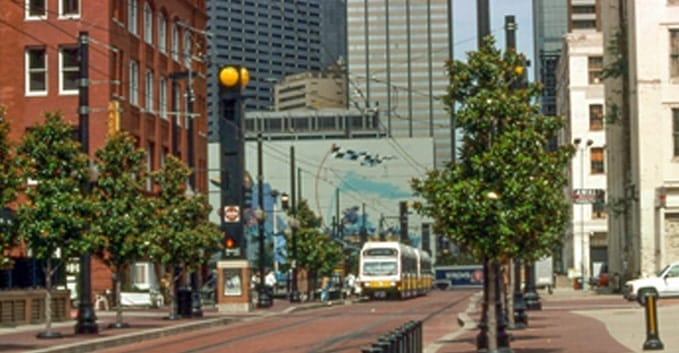 Ride the Dallas DART around town