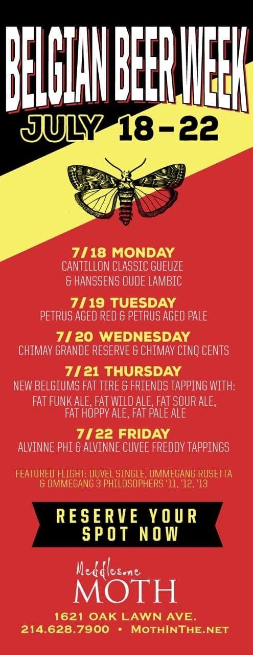 Belgian Beer Week at Meddlesome Moth