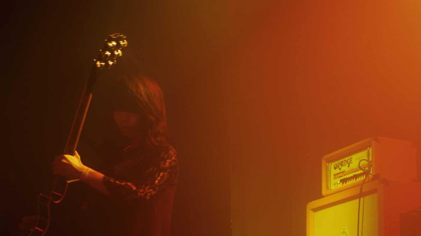 Guitarist Wata shredding on the guitar.