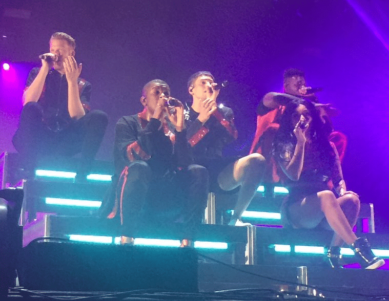 Pentatonix on stage in Dallas 2018